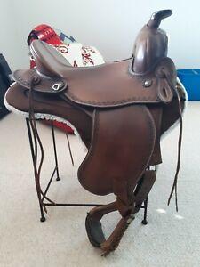 """OrthoFlex Western Enduro Saddle 15"""" seat EUC"""