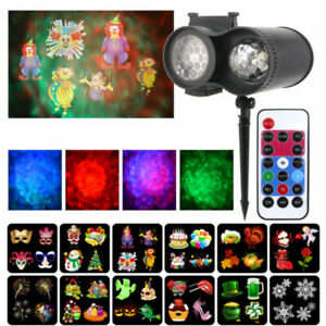 Christmas Laser Projector LED Moving Snowflake Light Garden Halloween Party Deco
