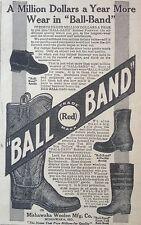 ANTIQUE 1911 AD(XX58)~BALL BAND RUBBER FOOTWEAR, MISHAWAKA, IND.