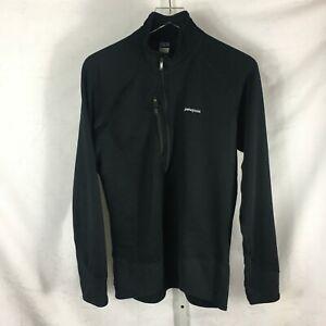 Patagonia Mens R1 1/4-Zip Pullover Base Layer Jacket Black M