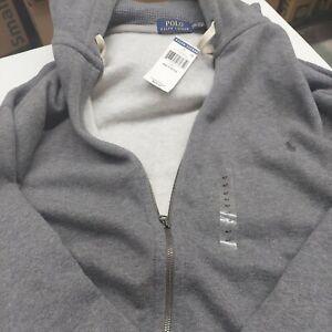 Polo Ralph Lauren 4XLT 4LT 4X Grey Hoodie Big & Tall Full Zip Hooded Sweatshirt