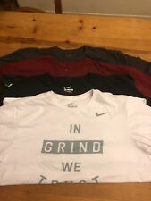 Lot Of 4 Men's XLarge Workout Shirts 3 Nike 1 Wht 1 Blk 1 Mrn 1 Champs Gray