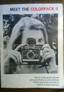 Polaroid Land Camera Colorpak II original Instruction Manual in Black and White