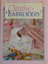 Creative Embroidery Pattern Book w/ Transfers - 64 pages ©1991 # 12140 Mark Pub