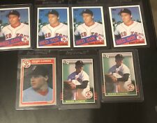 Roger Clemens  Rookie 7 Card Lot All Cards NM/Mint. Please See Photos!
