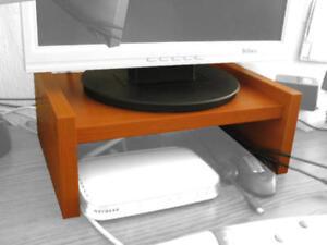 Monitor Level Riser Stand Lift Uplift Shelf Furniture 32x24x12cm - Cherry color