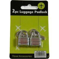 "Mekanix 45/272 Twin Pack of 4"" Luggage Padlock Essential Travel Accessories New"