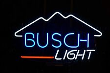 "New Busch Light Mountain Beer Bar Neon Light Sign 17""x14"""