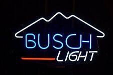 """New Busch Light Mountain Beer Bar Neon Light Sign 17""""x14"""""""