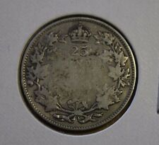 1927 Canada 25 cents silver about Good