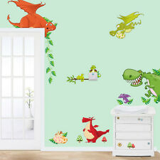 1 X Dinosaur Zoo Wallpaper Decals for Kids Baby Boy Bedroom Wall Stickers JX