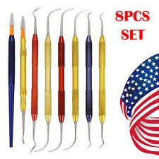 8pcs Professional Dental Lab Wax Carving Knife Plaster Modeling Instrument Tools