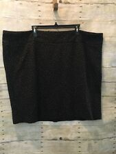 Lane Bryant Size 28 Leopard Print Skirt Rear Zip
