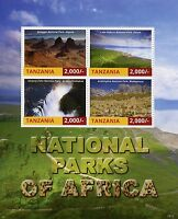Tanzania 2015 MNH National Parks of Africa 4v M/S Victoria Falls Nat Park Stamps
