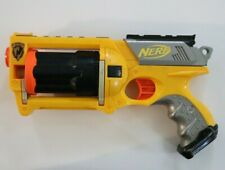 Yellow Nerf N-Strike Maverick Rev-6 Soft Foam Dart Toy Gun Dart Blaster 2004