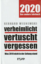 VERHEIMLICHT VERTUSCHT VERGESSEN 2020 - Gerhard  Wisnewski BUCH - NEU