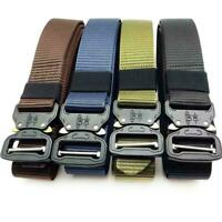 Outdoor Heavy Duty Rigger Military Tactical Belt Quick-Release Metal Buckle Q0T9