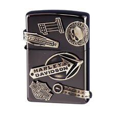 Zippo Harley Davidson Japan Limited HDP-62 Black Ion Nickel Metal F/S Cool Rare