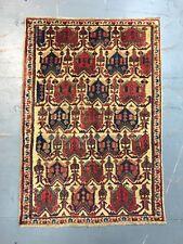 Old Antique Handmade Afshar Rug 3.6x2.4 Ft