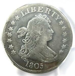 1805 Draped Bust Quarter 25C Coin - Certified PCGS Fine Details - Rare Coin!