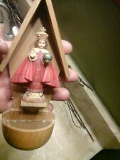 Rare.Anri Holy Child Made In Italy   Hand Carved & Painted  Holy Water