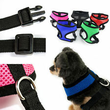 Nylon Pet Puppy Soft Mesh Dog Harness Strap Vest Collar XS Size Blue