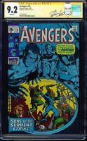 AVENGERS #73 CGC 9.2 WHITE SS STAN LEE SIGNED SONS OF SERPENT APP #1227704022