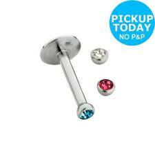 Cubic Zirconia Stainless Steel Stud Body Piercing Jewellery