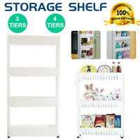 4 Tier Removable Kitchen Trolley Rack Holder Storage Shelf Organizer Wheels