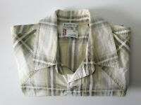 Levis Regular Fit Pearl Snap Button Short Sleeve Men's Check Shirt Size XL