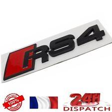 Logo RS4 NOIR pour Audi A4 emblem sigle badge sticker aufkleber adesivoLogo RS4