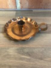 Antique Copper Chamber Candlestick Candle  Stick Petal Base Laurence Butler