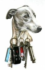 Greyhound Key Rack or Lead Hanger Hand Made in UK Ideal Gift