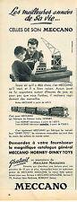 PUBLICITE ADVERTISING 024   1955   MECCANO   jeux jouets