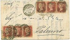 GB POSTAL HISTORY - 1872 COVER TO ITALY, SICILY