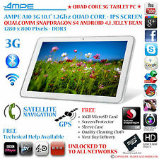 "Ampe A10 / SANEI N10 10.1 "" 3G GPS QUAD CORE Snapdragon Android 4.2 Tablet PC-IPS"