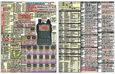 "YAESU  VX-7R  AMATEUR HAM RADIO DATACHART  8 1/2"" x 11"" GRAPHIC INFO (INDEXED)"