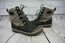 Keen Elsa Insulated Winter Boots Womens Size 8 Houndstooth Brown *SEE INFO