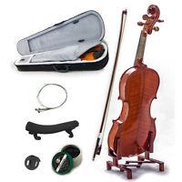 New Solid Wood Intermediate 1/4 Violin w Case Bow Rosin String