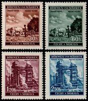 ✔️  GERMANY BOHEMIA MORAVIA 1941 WWII NAZI ERA - SC. 56/59 ** MNH OG [GBM075]