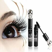 Skull Eyelash Mascara 3D Waterproof Black Makeup Extension Fiber Long Curling U8