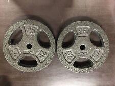 25 LB Plates (2) 50 LB Total CAP Weightlifting Fast, Free Shipping Dark Gray