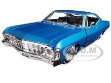 "1967 CHEVROLET IMPALA BLUE ""LOWRIDER SERIES"" STREET LOW 1/24 JADA 98935"