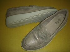 Clarks Collection Sharon Ranch Suede Leather Loafers Women's Shoes 7 M Pewter
