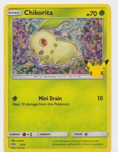 2021 Pokémon CHIKORITA HOLO CARD McDonalds Happy Meal Toy Holographic