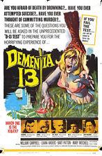 """Dementia 13 Poster Replica 13 x 19"""" Photo Print"""