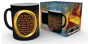 Lord of the Rings One Ring 10oz 300ml Breakfast Coffe Heat Changing Ceramic Mug