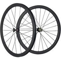700C 38mm Depth Carbon Wheels 25mm Wide U Shape Clincher Bicycle Carbon Wheelset