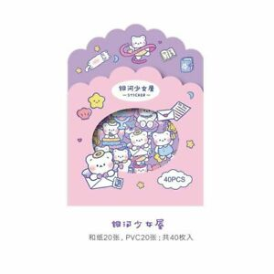 Purple Bear Stationery Stickers For Scrapbooking Journals Cute Label Sticker New