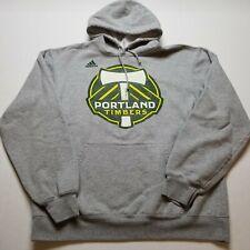 Adidas MLS Portland Timbers Sweatshirt Mens XL Gray Hoodie Soccer Pullover P60